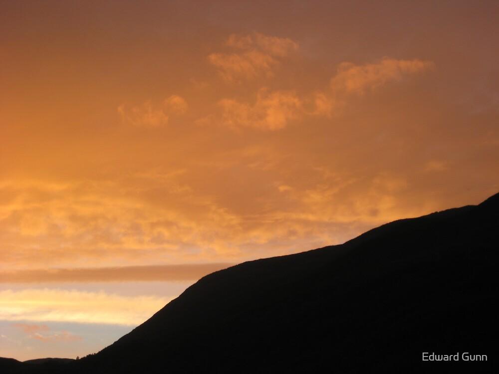 Sunset over Loch Leven by Edward Gunn