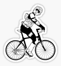 Biker Scout on a Bicycle - Biker Scout Bike - Star Wars Biker Scout Sticker