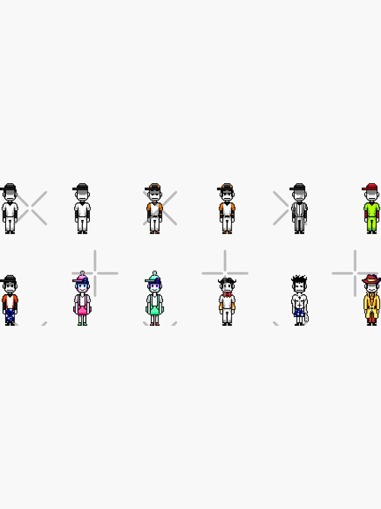 Alternate Batter costumes sticker set by Emmytwofive