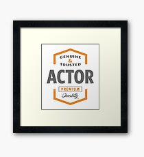 Actor Framed Print