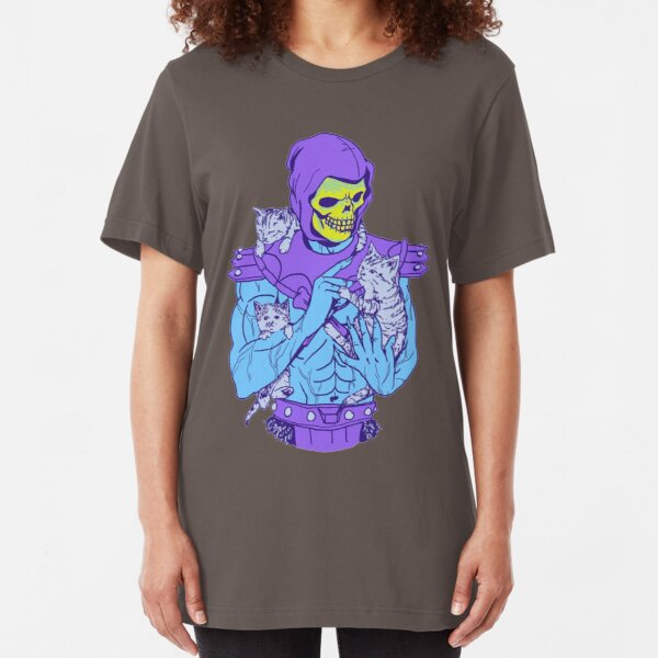 Skeletor, Masters of the Meowniverse. Slim Fit T-Shirt