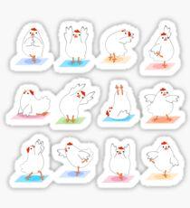 Chicken Yoga Sticker