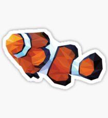 Geometric Abstract Clown Fish Sticker