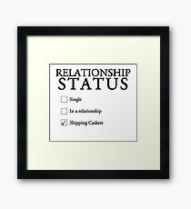 Relationship status - caskett Framed Print