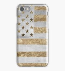 Fashion American Flag Silver Gold iPhone Case/Skin