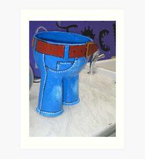 Little blue trousers Art Print