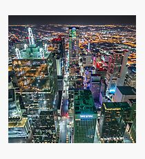 Downtown Dallas From Bank Of America Plaza Rooftop Photographic Print