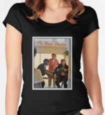 Pulp Fiction  'The Bonnie Situation' - John Travolta, Samuel L. Jackson, Quentin Tarantino Women's Fitted Scoop T-Shirt