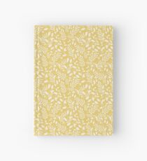 Yellow Floral Pattern Print Hardcover Journal