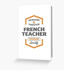 French teacher greeting cards redbubble french teacher greeting card m4hsunfo