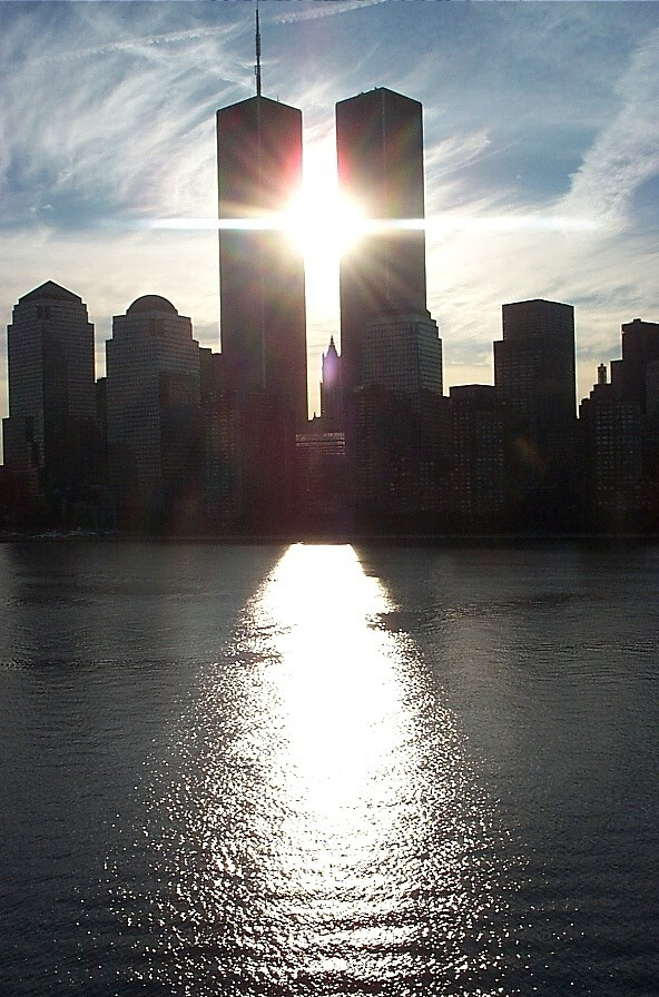 TWIN TOWERS FROM CRUISE SHIP DAY BEFORE 911 by sky2007