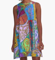 Embroidery  A-Line Dress