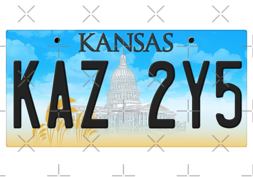 Supernatural Kansas Impala Plate by halfabubble