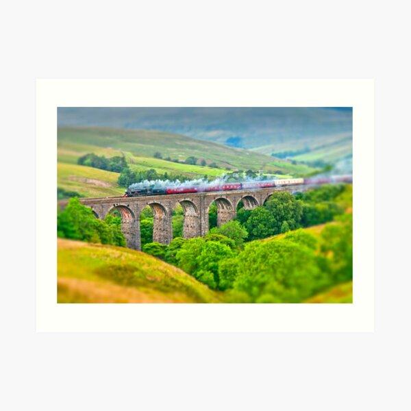 Dent Dale Viaduct (Tilt 'n' Shift) Art Print