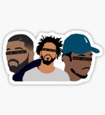 Drake, J Cole, Kendrick Lamar (Heart, Mind, Soul) Sticker