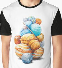 Planetary Pile-Up Graphic T-Shirt