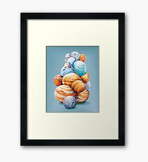 Planetary Pile-Up Framed Print