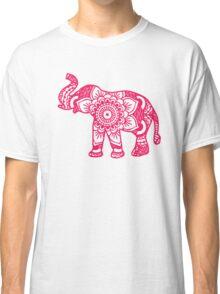 Mandala Elephant Pink Classic T-Shirt