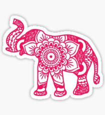 Mandala Elephant Pink Sticker