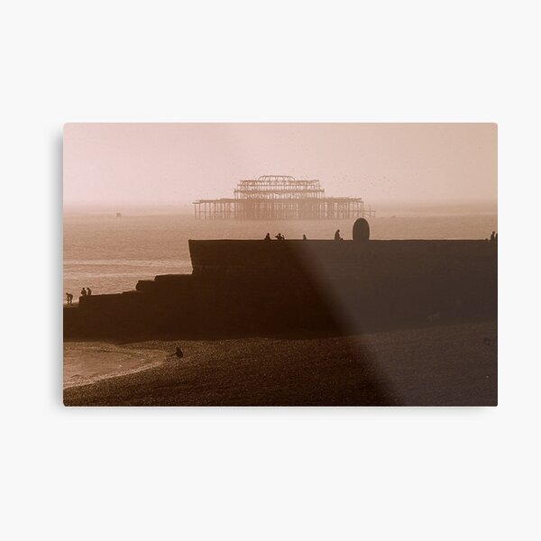 Towards West Pier Metal Print