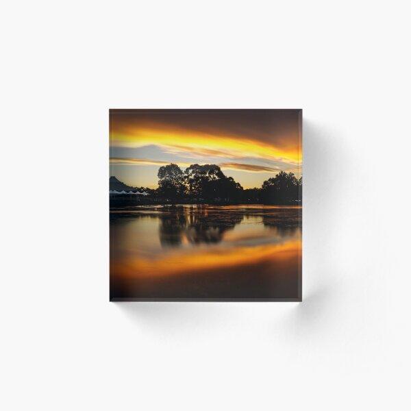 Weeroona Sunset Acrylic Block