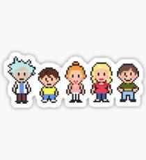 Rick & Morty Pixel Cast Sticker