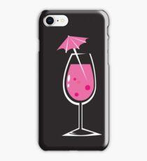 Black vintage cocktails Design iPhone Case/Skin