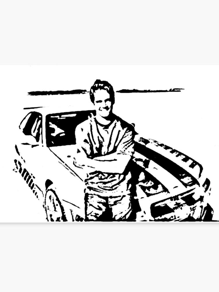 Paul Walker Skyline Desert Canvas Print By Garryx