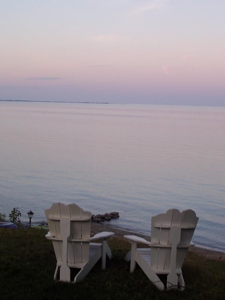 Sunset on Lake Huron by PKWojahn