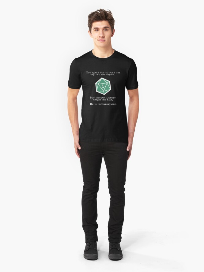 Alternate view of Natural 1 - Orc (White) Slim Fit T-Shirt