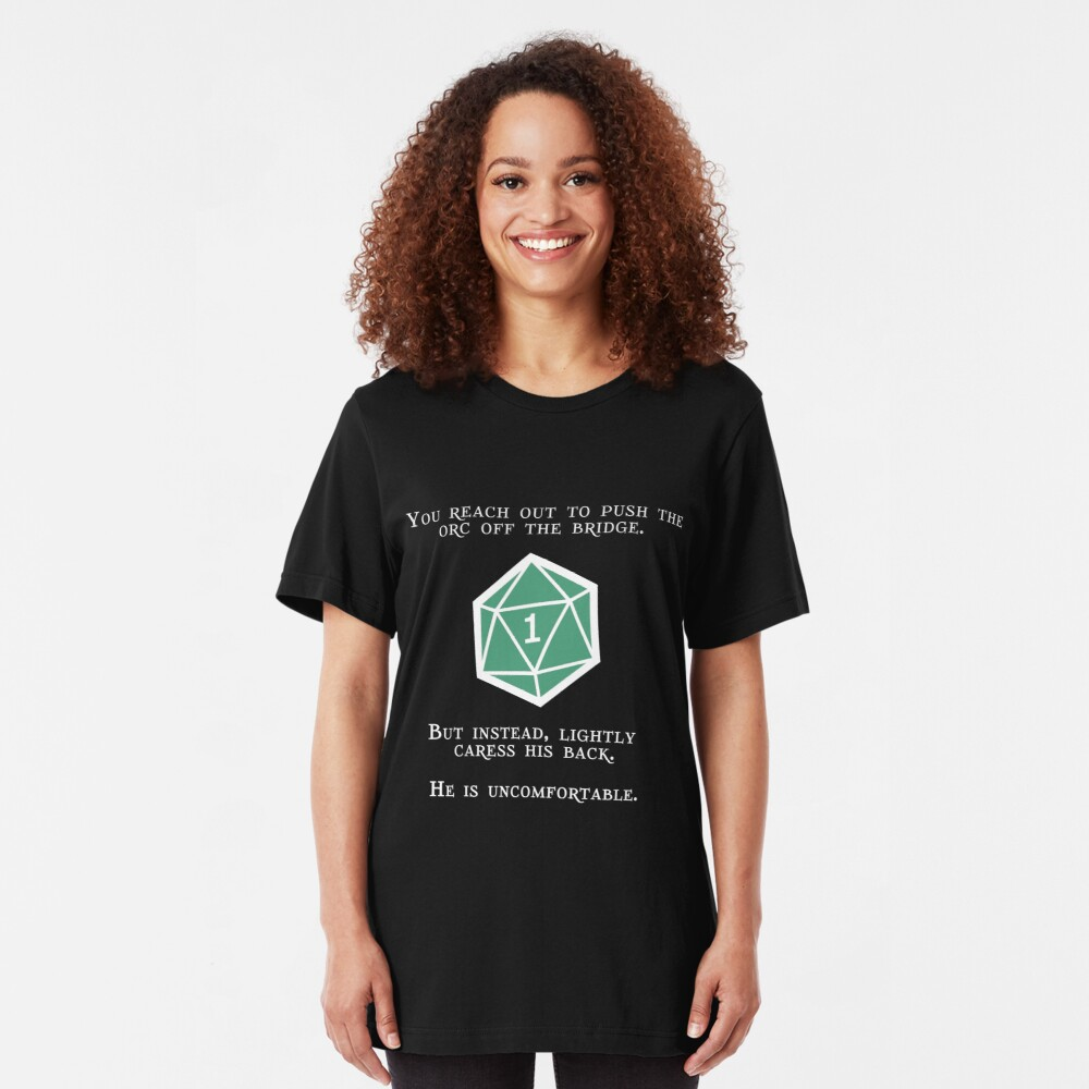 Natural 1 - Orc (White) Slim Fit T-Shirt