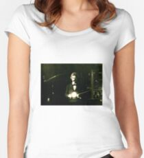 Mark Twain and Nikola Tesla Women's Fitted Scoop T-Shirt