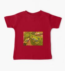 Cute and colourful tree frogs  Baby Tee