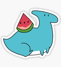 Watermelon Hadrosaurid Sticker