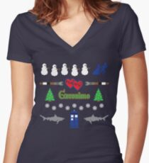 Ugly Christmas Sweater Special Women's Fitted V-Neck T-Shirt