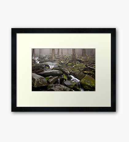 Foggy Mountain Creek Framed Print