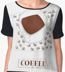 coffee  Women's Chiffon Top