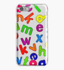 Jumbled Multi Coloured Letters Glow iPhone Case/Skin