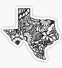Texas_BLK Sticker