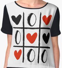 XO LOVE HEART SPECIAL - Valentines Day Women's Chiffon Top