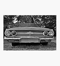 Chevrolet Bel Air Black And White Photographic Print
