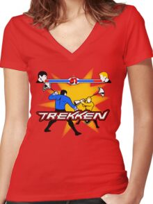TREKKEN Women's Fitted V-Neck T-Shirt