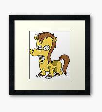 Roger horse suit Framed Print