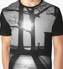 Basketball Court During Sunrise | New York City, New York Graphic T-Shirt