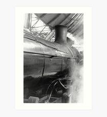 Steam at Southern Cross Art Print