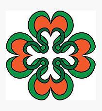 Tribal Four Leaf Clover  Photographic Print