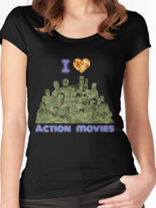 I love Action Movies Women's Fitted Scoop T-Shirt