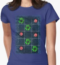 Clover and ladybugs tic-tac-toe pattern Womens Fitted T-Shirt