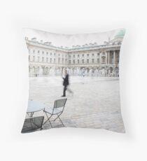 people watching - london Throw Pillow
