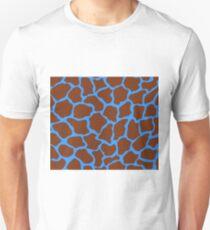 Brilliant Azure in Giraffe Pattern  Unisex T-Shirt